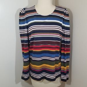 {For the Republic} Striped Puff Sleeve Top